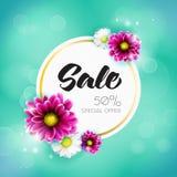 La vendita fiorisce il concetto Fotografia Stock