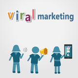 La vendita virale con la tecnologia per comunica Fotografia Stock