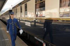 La Venecia Simplon-Orientar-Expresa - el conductor Imagenes de archivo
