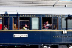 La Venecia Simplon-Oriente-expresa - pasajero nervioso Fotografía de archivo