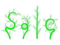 La venta de la palabra de las plantas Imagen de archivo libre de regalías