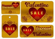 La venta de la tarjeta del día de San Valentín Fotos de archivo
