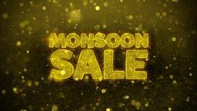 La venta de la monzón desea la tarjeta de felicitaciones, invitación, fuego artificial de la celebración