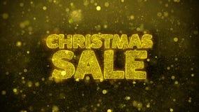 La venta de la Navidad desea la tarjeta de felicitaciones, invitación, fuego artificial de la celebración