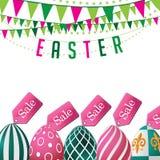 La venta de Pascua eggs el fondo Vector del EPS 10 ilustración del vector