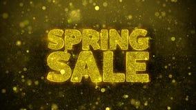 La venta de la primavera desea la tarjeta de felicitaciones, invitación, fuego artificial de la celebración