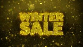 La venta del invierno desea la tarjeta de felicitaciones, invitación, fuego artificial de la celebración