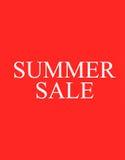 La venta del verano de las palabras en fondo foto de archivo