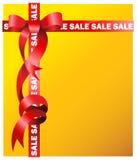 La venta firma adentro la cinta roja libre illustration