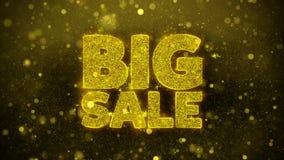 La venta grande desea la tarjeta de felicitaciones, invitación, fuego artificial de la celebración
