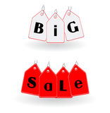 La venta grande etiqueta vector Foto de archivo libre de regalías