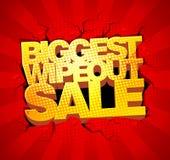 La venta más grande del wipeout Fotografía de archivo