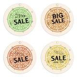 La venta marca la colección con etiqueta Concepto de la fruta cítrica ilustración del vector