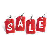 La venta marca el ejemplo del vector con etiqueta Fotografía de archivo libre de regalías