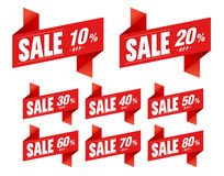 La venta marca papiroflexia del descuento con etiqueta Imagen de archivo