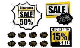 La venta marca vector del símbolo con etiqueta de las compras Fotos de archivo libres de regalías