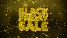 La venta negra de viernes desea la tarjeta de felicitaciones, invitación, fuego artificial de la celebración