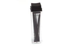 La ventaja de lápiz micro en caja clara Imagen de archivo