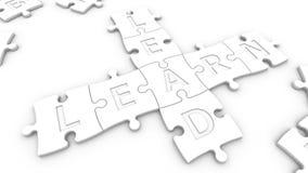 La ventaja del texto aprende Imagen de archivo libre de regalías