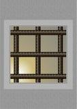 La ventana de la prisión. Ilustración del Vector