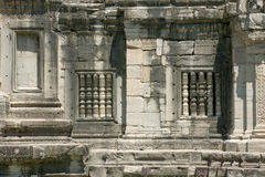 La ventana del castillo de la piedra de Phimai Foto de archivo