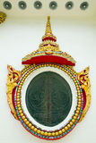 La ventana del templo del estilo tiene gusto de tailandés modelo, Fotografía de archivo