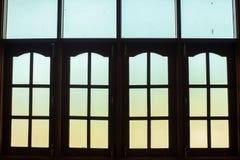 La ventana del vintage en el estilo tradicional de Birmania Imagen de archivo