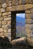 La ventana en los Andes fotos de archivo