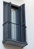 La ventana negra hermosa imagen de archivo libre de regalías