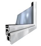 La ventana plástica blanca cortó Imagen de archivo libre de regalías