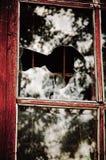 La ventana quebrada Fotos de archivo libres de regalías