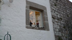 La ventana simple y elegante puede ser vista Foto de archivo libre de regalías
