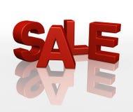 la VENTE 3D marque avec des lettres le rouge de promotion Photos stock