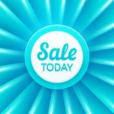 La vente conçoivent aujourd'hui le calibre Drapeau de vecteur Photo stock