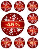 La vente d'hiver étiquette 2 Photo libre de droits