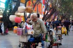 La vente de la sucrerie de coton Image libre de droits