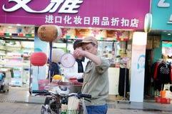 La vente de la sucrerie de coton Photos stock