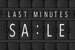 La vente de minutes de bout signent plus de Flip Scoreboard Airport Panel 3d au sujet de illustration stock