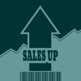 La vente grandissent la flèche et le code barres Images libres de droits