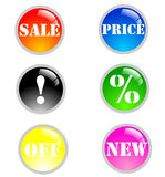 La vente neuve grande colore des graphismes Images stock