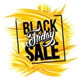 La vente noire de vendredi font de la publicité la conception illustration de vecteur