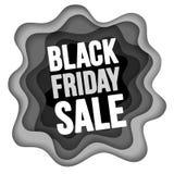 La vente noire de vendredi font de la publicité la conception illustration stock