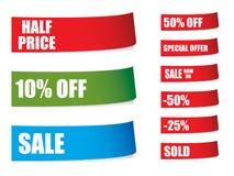 la vente ombrage des collants Photographie stock libre de droits