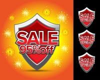 La vente protège 95%  Photos stock