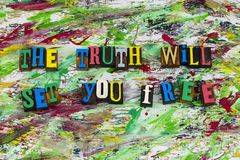 La verdad le fijará cita libremente Fotos de archivo libres de regalías