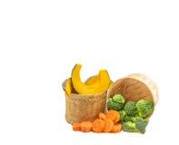 La verdura en blanco Imagen de archivo