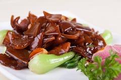 La verdura ha fritto lo stomaco del maiale Immagine Stock
