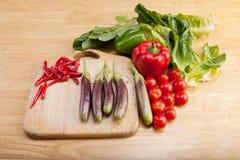 La verdura me colocó en la cocina Fotos de archivo libres de regalías