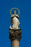La Vergine Santa Mary della vecchia scultura Fotografia Stock