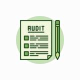 La verifica documenta l'icona verde illustrazione vettoriale